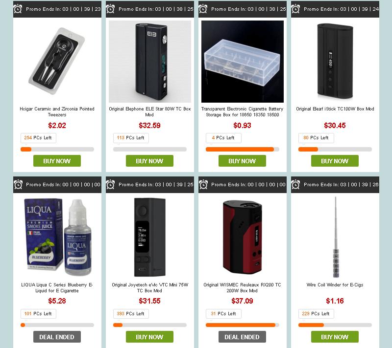 распродажа электронных сигарет на gearbest
