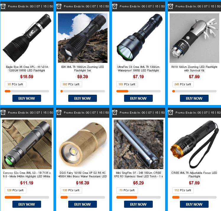 аккумуляторы для диодных фонариков в магазине Gearbest