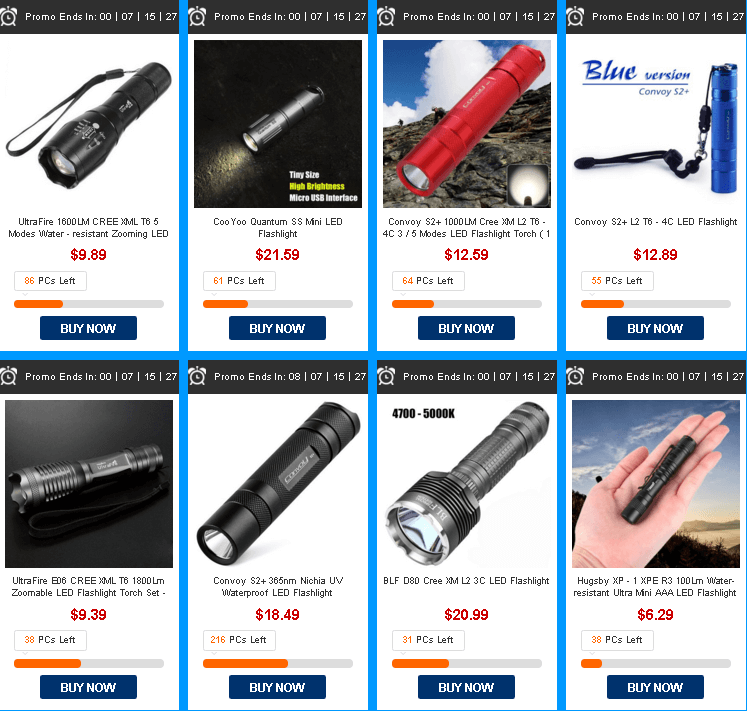 распродажа LED фонариков