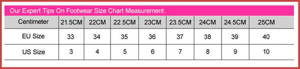 таблица от длина стопы
