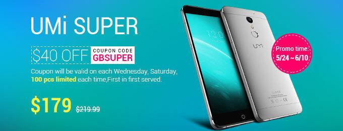 Скидка на телефон Umi Super в магазине Gearbest
