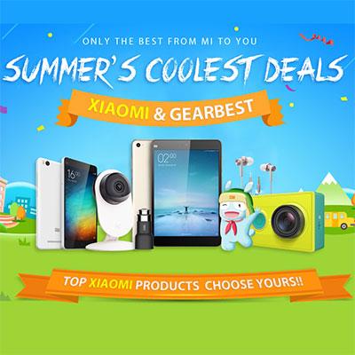 распродажа товаров Xiaomi в магазине Gearbest