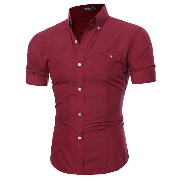 рубашка с коротким рукавом приталенная