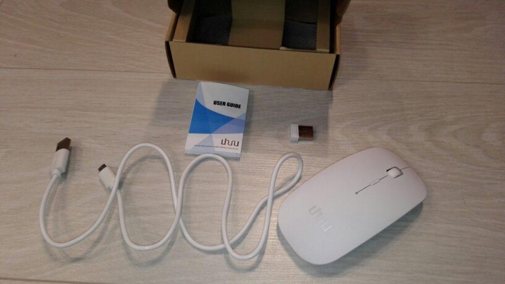комплектация мыши UHURU Rechargeable Bluetooth 3.0
