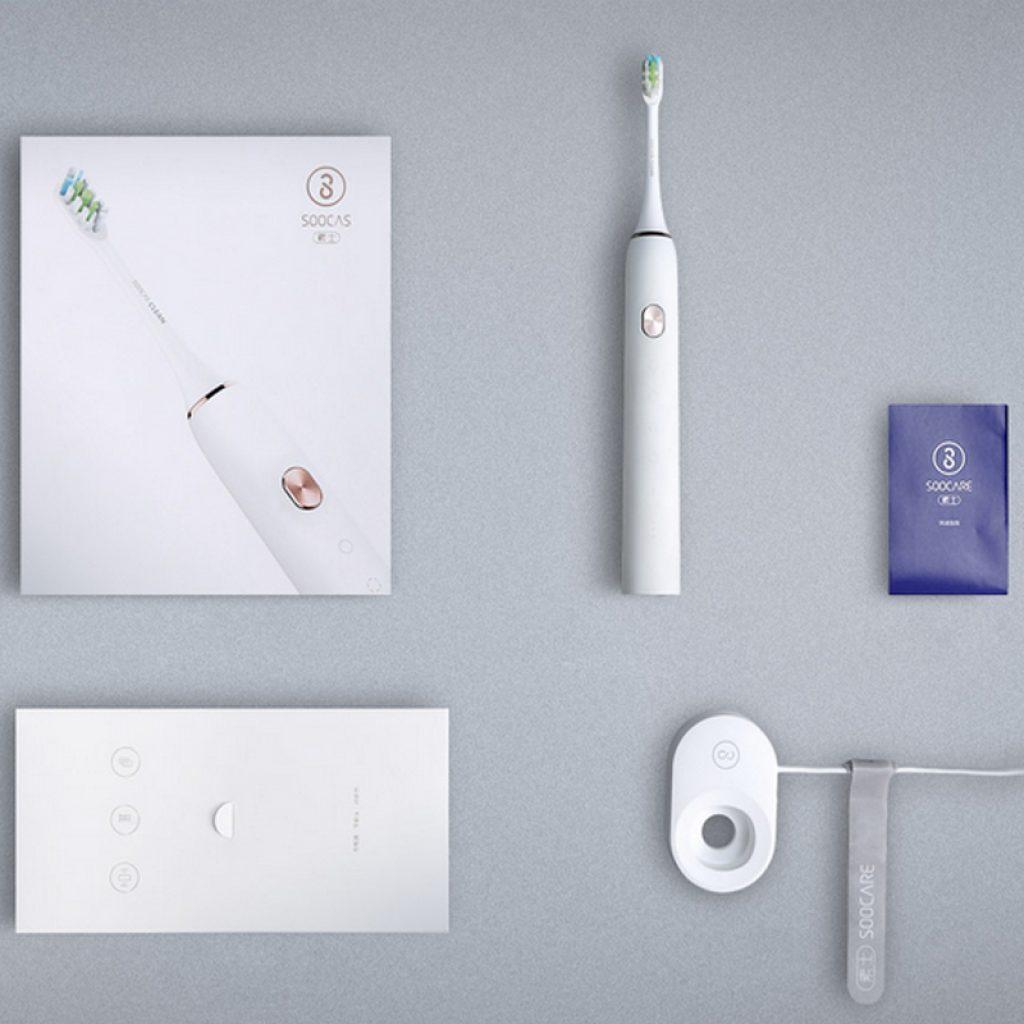 комплектация зебной щетки Xiaomi soocare x3