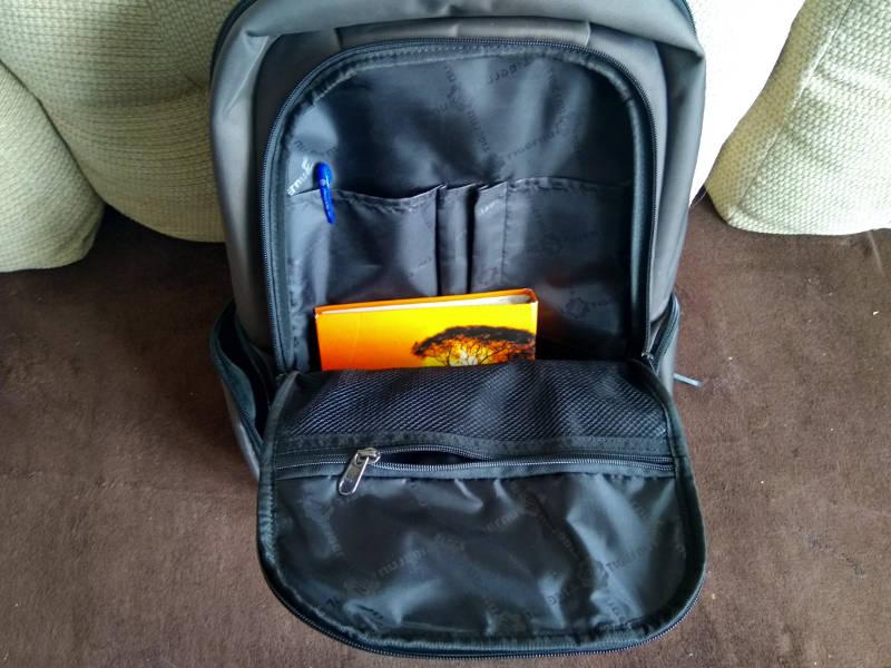 первое отделение рюкзака Tigernu T-B3143