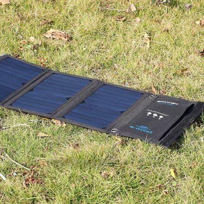 Солнечная зарядка Blitzwolf BW-L1. Обзор с видео и картинками.